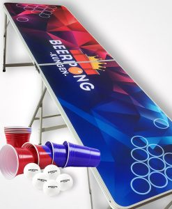 Beerpongkungens startpaket - beer pong bord, red cups, blue cups, pingisbollar