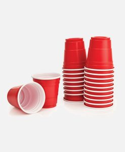 Shotglas mini red cups för beer pong